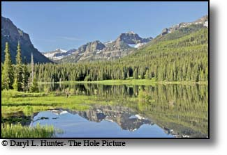 Hyalite Reservior in the Gallatin Mountains south of Bozeman Montana.