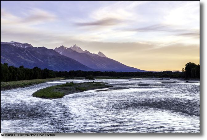 Snake River sunrise, Jackson Hole, Wyoming, Wilson