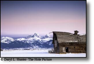 Old barn, sunset, grand tetons, driggs, Idaho