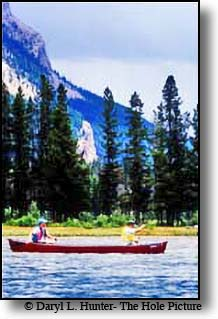 canoe Green River Lake Cora Wyoming Bridger Teton National Forest