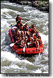 Whitewater raft on Snake River