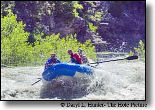 Whitewater rafting teton region
