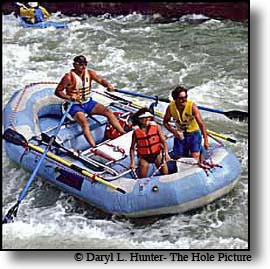 White Water Rafters on Snake River