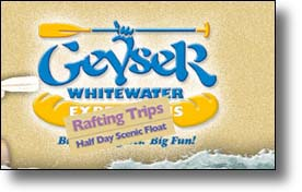 geyser whitewater rafting