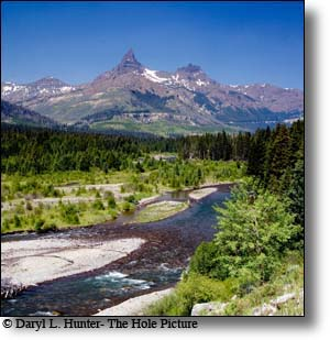 Clarks Fork River, Absaroka Mountains, Cody Wyoming