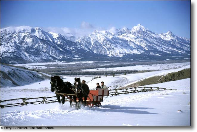Sleigh Ride, Grand Tetons, Jackson Hole
