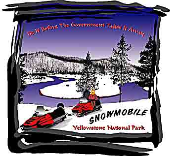 Snowmobiling Yellowstone National Park