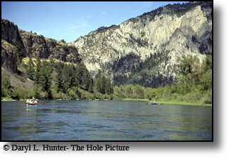 Drift fishing, fly-fishing, southfork of the snake river, swan valley, idaho