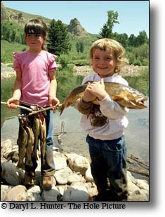 Little girl, big fish, Jackson Hole, Wyoming