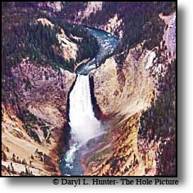 Yellowstone falls arial