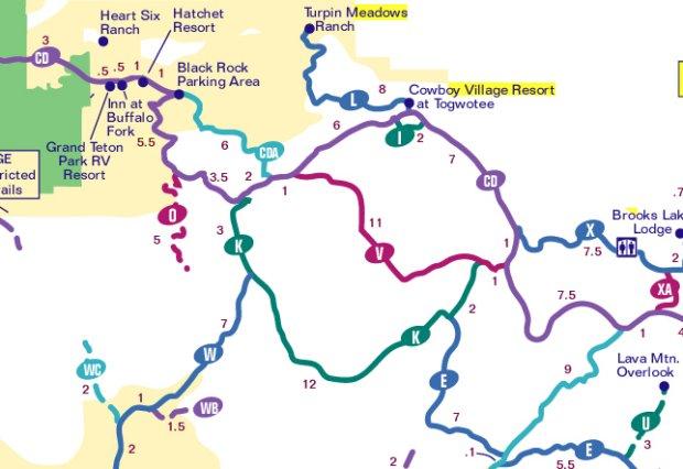 Togwotee Pass Snowmobile Map