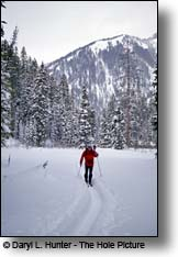 Back country skiing Teton Pass WY  outside of Victor ID