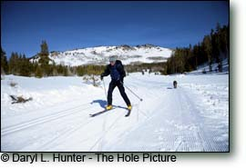 skate skier, wind river mountains, pinedale wyoming