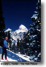 cross country skier Grand Teton Mountains